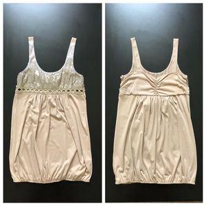 Sequin Taupe Mini Dress